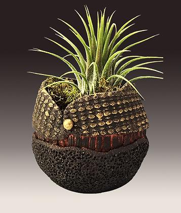 Small Black Stoneware Planter