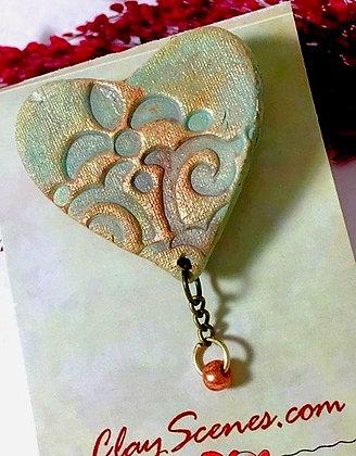 Sage Heart Pin