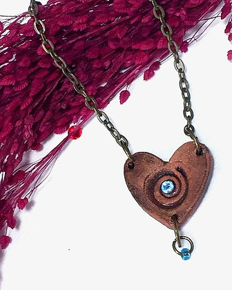 Red Clay Heart Necklace