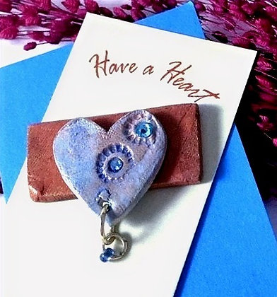 Have a Heart Blue Pin