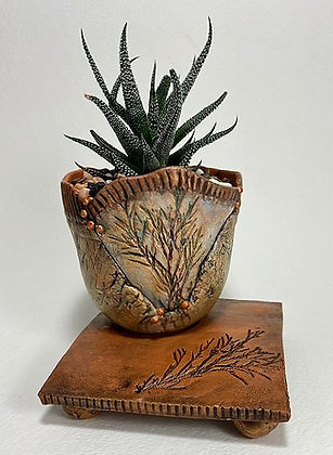 Earthy Desk Top Planter with Stand