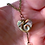 Thumbnail: Small Textured Heart Necklace
