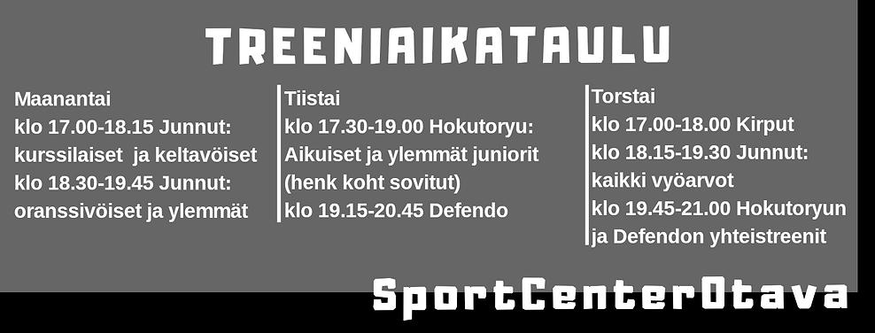 SportCenterOtava, treeniaikataulu.png