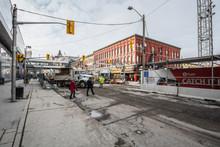 Rideau Street LRT Construction