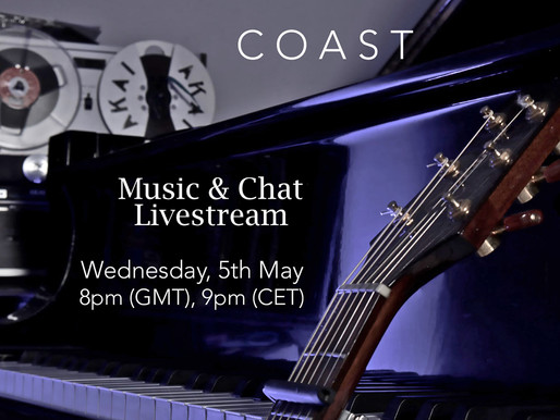 ✨Exciting News!✨You are invited to a special livestream event:COAST MUSIC & CHAT Wednesday, 5th May