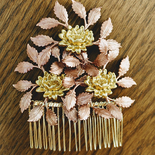 Copper Triple Leaf Comb