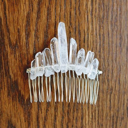 Crystal Quartz Comb