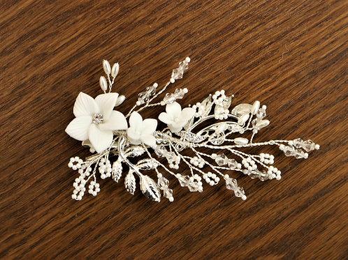 Ivory Flower Clip
