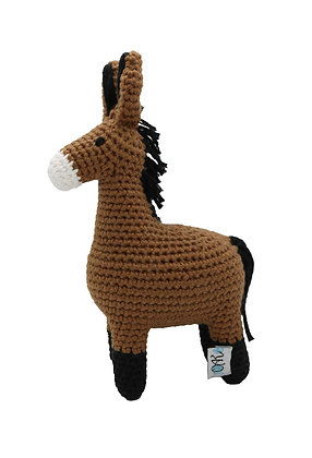 Handcrafted Crochet Mule Doll