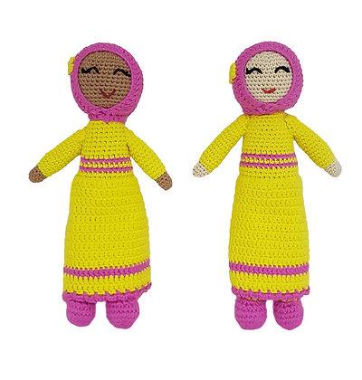 "Handcrafted Crochet ""Bitsy"" Doll"