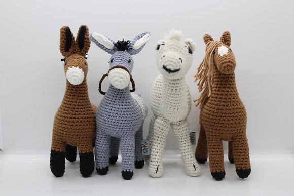 Handcrafted Crochet Animals Set