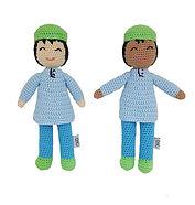 Yellow-Hat-Kufi-Doll-Boy-Blue-Dress-Dark