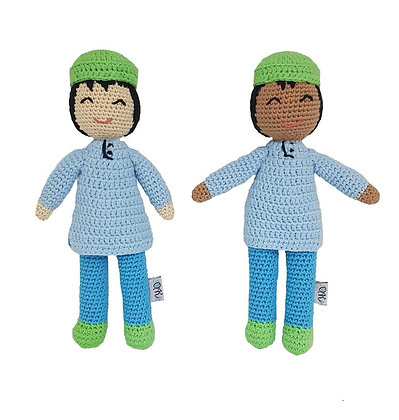 """Handcrafted Crochet """"Itsy"""" Doll"""