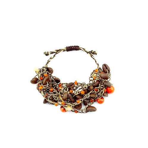 Orange Coffee Bean Bracelet