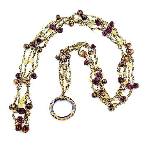 Purple Multifunctional Orange Peel Necklace
