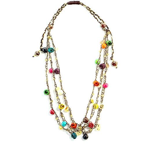 Multicolor Adjustable Orange Peel Necklace