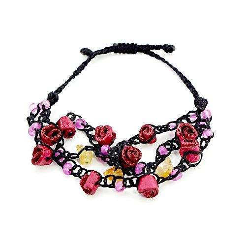 Pink Orange Peel Bracelet