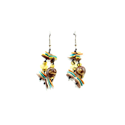 Aztec Cantaloupe Seed Earrings