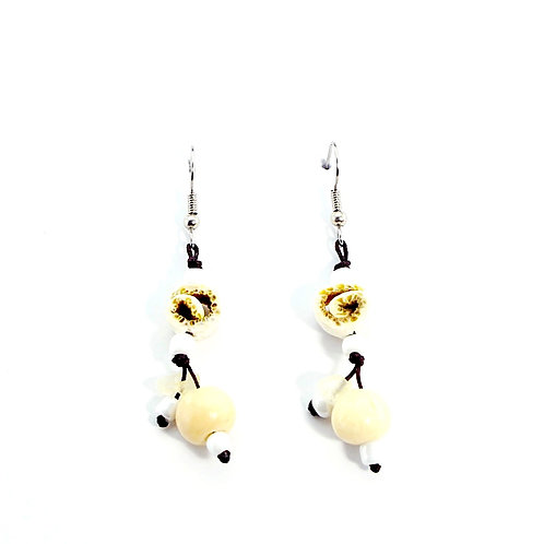 White Orange Peel Earrings