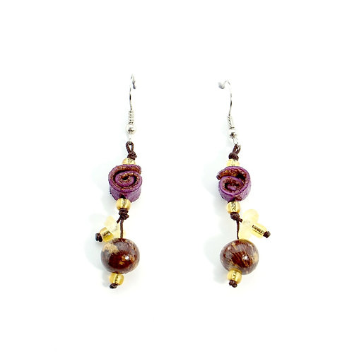 Purple Orange Peel Earrings