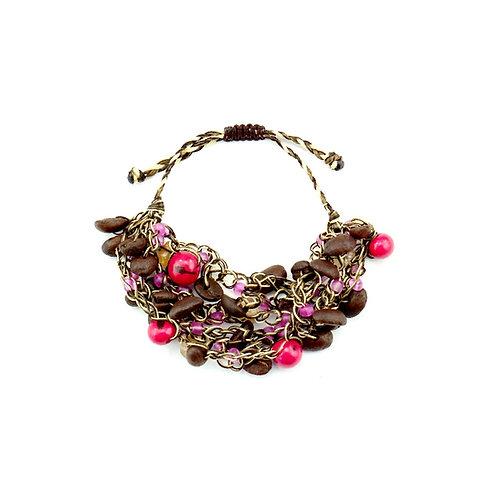 Pink Coffee Bean Bracelet
