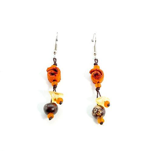 Orange Orange Peel Earrings