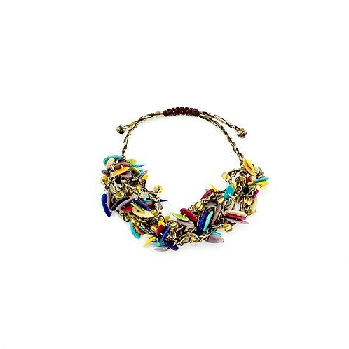 Multicolor Cantaloupe Seed Bracelet