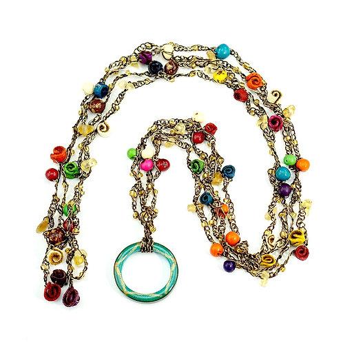 Multicolor Multifunctional Orange Peel Necklace