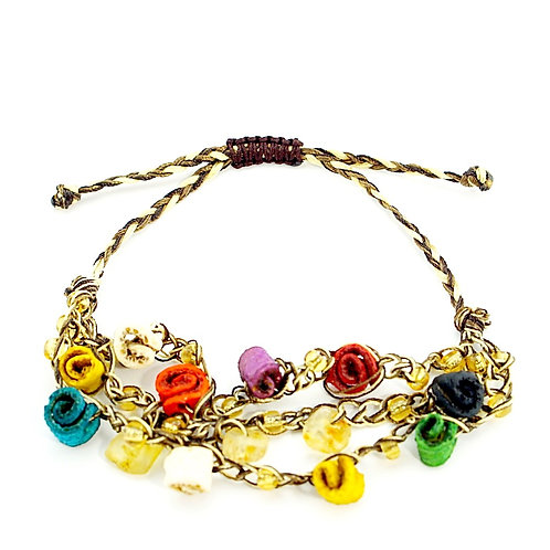 Multicolor Orange Peel Bracelet
