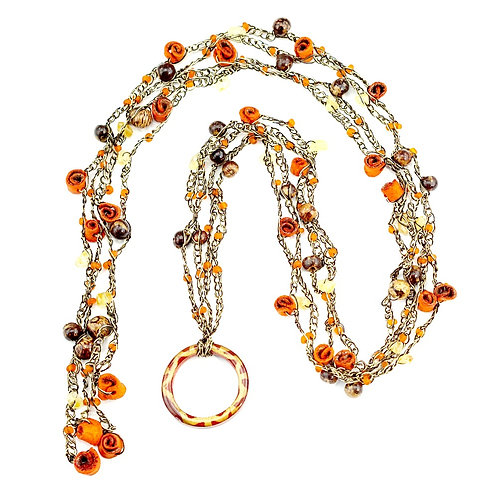 Orange Multifunctional Orange Peel Necklace
