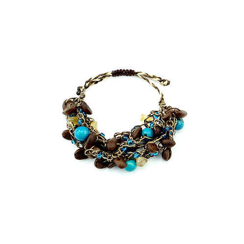 Blue Coffee Bean Bracelet