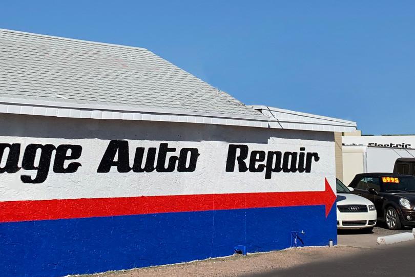 village auto repair on E. Main st in Mesa