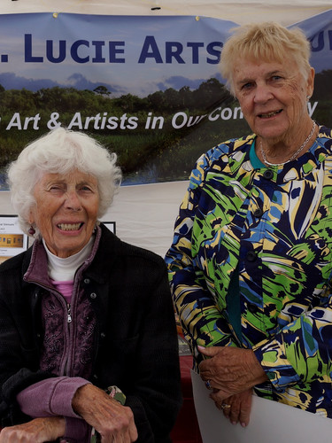 Mary Ann Austin and Maureen Joyce at the PSLAL promo booth