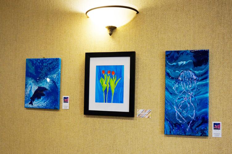 Acrylic Pours & Watercolor