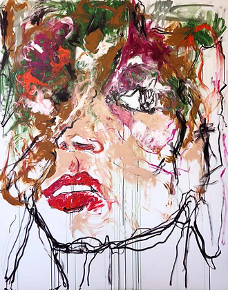 SOLD / She is / Mixed Media on canvas / Troels Andersen.