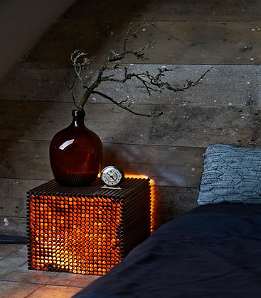 Mesa / Floor lamp & side table / Copper, Steel