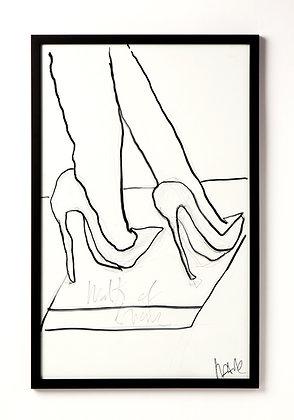 Legs / Ink & Charcoal on paper / Troels Andersen.