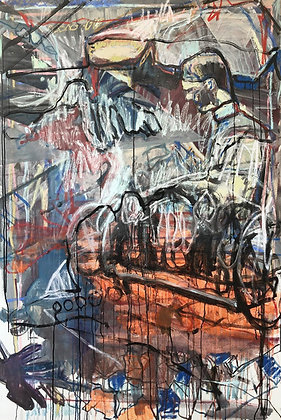 Transition / Mixed media on canvas / Troels Andersen.