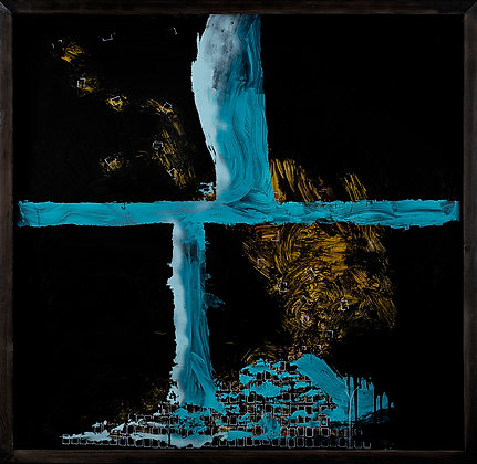 Crux.Sea 01.  / Contemporary glass painting. L.H/Norsonn.