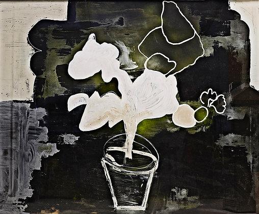 Jordache Plant 01/ Contemporary glass painting / L.H/Norsonn.