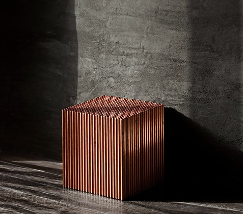 Clara / Coffee Table / Patinated Copper
