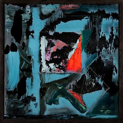 Figures.Pile 01. / Contemporary glass painting. L.H/Norsonn.