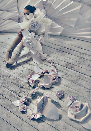 Paper flowers / Fashion photograph / Lars H / 4 of 20.