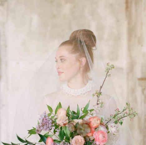 Bridal hair-up style