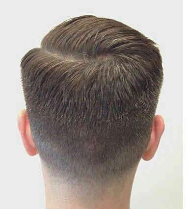 Men's faded haircut