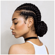 Cornrows with hair extensions