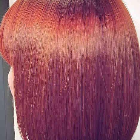 Keratin treatment and colour