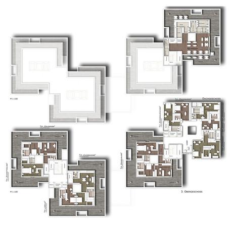 Obergeschoss 2 & Dachgeschoss
