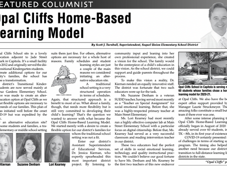 Opal Cliffs Home-Based Learning Model