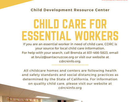 Child Care For Essential Workers